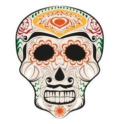 Day of dead painted skull dia de muertos vector