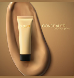 Foundation cream packaging design vector