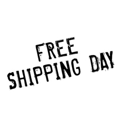 Free shipping day rubber stamp vector