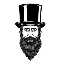 gentleman in vintage hat design element for vector image vector image