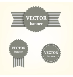 Grey banners vector image vector image