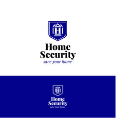 house security logo home insurance symbol vector image vector image