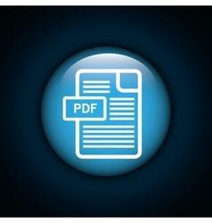 Interner download round icon vector image