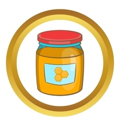 Jar of honey icon vector