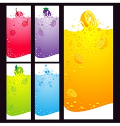 juice fruit liquid drops splash element background vector image