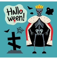 King skeletons cartoon vector