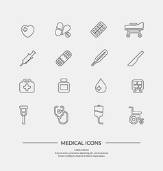 Medical icons elements and icons for cards poste vector