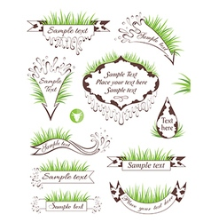 Milk banners collection vector