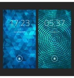 Mobile interface wallpaper design Set of abstract vector image vector image