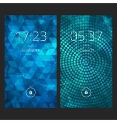 Mobile interface wallpaper design set of abstract vector