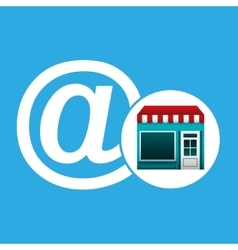 online market buying mail graphic vector image vector image