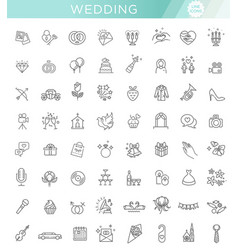 outline web icon set wedding vector image vector image