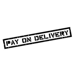 Pay on delivery rubber stamp vector