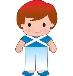 Poppy scotland boy vector