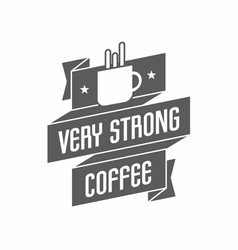 Retro Vintage Coffee Logo with cup and Typography vector image vector image