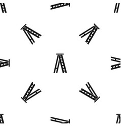 Stepladder pattern seamless black vector