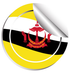 Sticker design for brunei flag vector