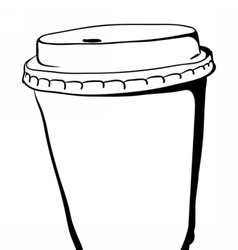 Take away Coffee paper cup vector image