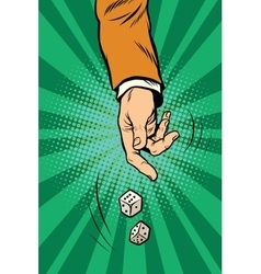 Throw the dice game randomness casino vector image