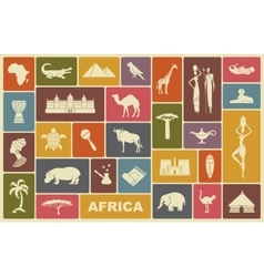 Traditional symbols of Africa vector image vector image
