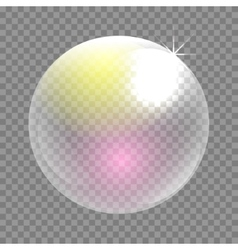 Transparent soap bubble clip art vector