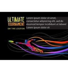 Ultimate sport invitation poster or flyer vector