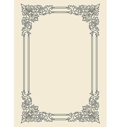 vintage photo frame ornamental vector image vector image