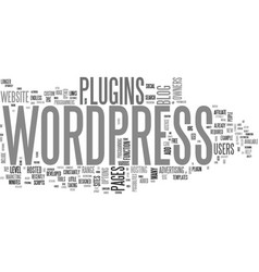 What can wordpress plugins do for you text word vector
