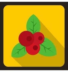 Red currant icon flat style vector