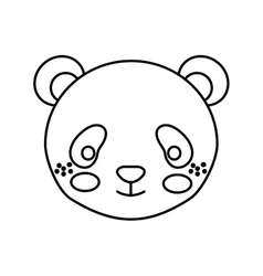 cute little bear panda animal character vector image