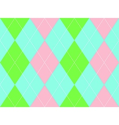 Sweet colors argyle seamless pattern vector
