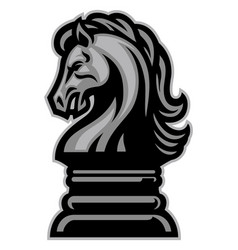 knight horse chess vector image