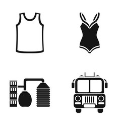 Clothing sports and or web icon in black style vector