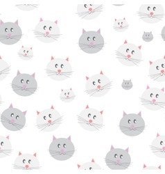 Cat seamless pattern background vector
