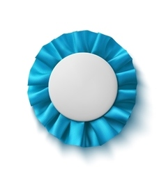 Blank realistic blue fabric award ribbon vector