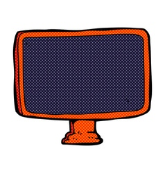 Comic cartoon computer screen vector