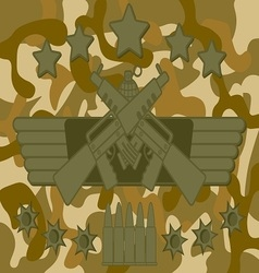 Military Logo Rifleman vector image