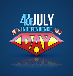 Independence day banner super hero style vector
