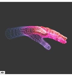 Human arm hand model hand 3d geometric design vector