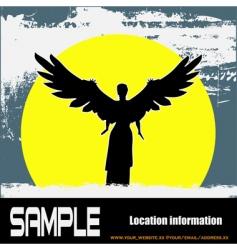 grunge angel vector image
