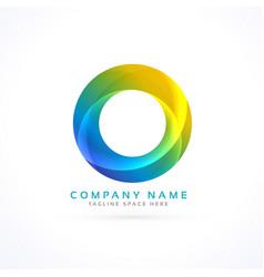 abstract colorful circle logo vector image