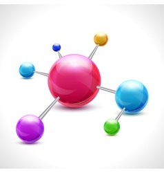 Abstract molecule 3d vector image