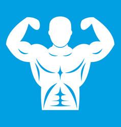 Athletic man torso icon white vector
