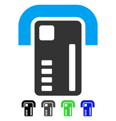 Atm machine flat icon vector