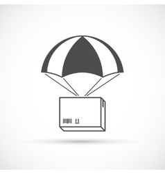 Box on a parachute icon vector image vector image