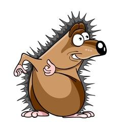 Cartoon hedgehog stares vector