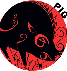 Chinese Horoscope pig vector image vector image