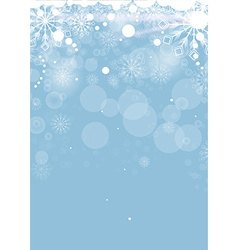 Christmas card with white snowflakes vector