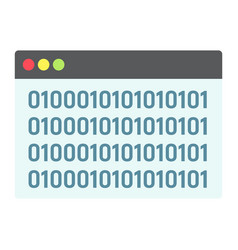 custom coding flat icon seo and development vector image vector image