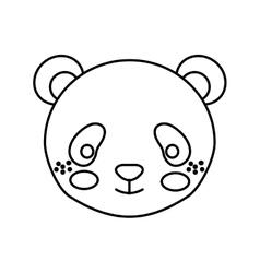 Cute little bear panda animal character vector
